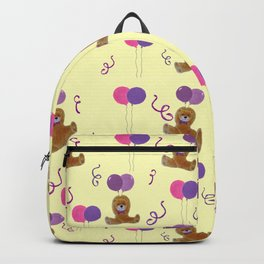 Teddy for girls with balloons Backpack