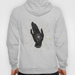Mystic Hand with Eye - Black and Gold Ink Hoody