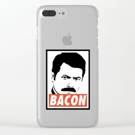 Swanson bacon Clear iPhone Case
