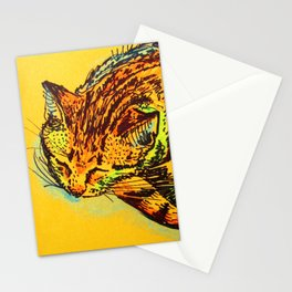Cat Shimmie (ochre paper)  Stationery Cards