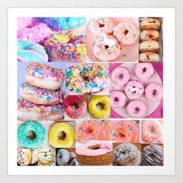 doughnut grid Art Print
