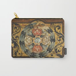 medieval wood painting Carry-All Pouch
