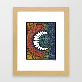 Sun Comes The Moon Framed Art Print