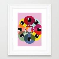 nail polish Framed Art Prints featuring Designer Nail Polish Print by BeckiBoos