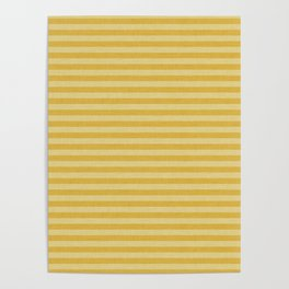 Stripes yellow and beige #homedecor Poster