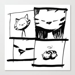 minima - IA - catnap Canvas Print
