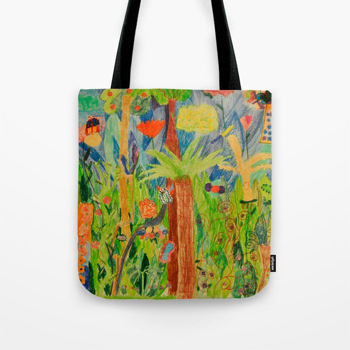 Paradise Delight | Kids Painting by Elisavet Tote Bag