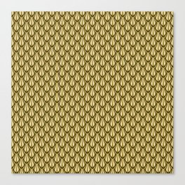 Gleaming Gold Leaf Scalloped Scale Pattern Canvas Print