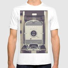 Vintage Polaroid Land Camera The 800 Mens Fitted Tee White MEDIUM