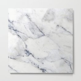 White and gray marble no4 Metal Print