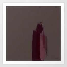 """""""Cherry / Rose Gold Porstroke (Pattern)"""" Art Print"""