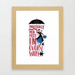 Mary Poppins Quote Framed Art Print