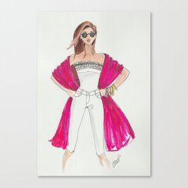 Summer girl Canvas Print