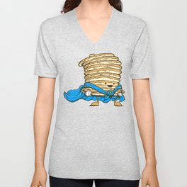 Captain Pancake Unisex V-Neck