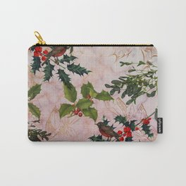 Holly and Mistletoe Carry-All Pouch