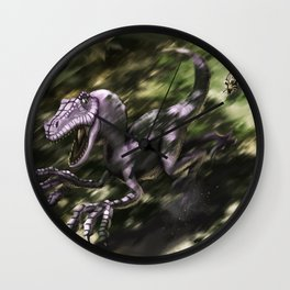 Brave Lizard Wall Clock