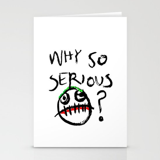 """Why So Serious?"" joker Stationery Cards"