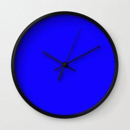 Curves in Yellow & Royal Blue ~ Royal Blue Wall Clock