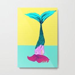 Mermaid Tail Up Metal Print