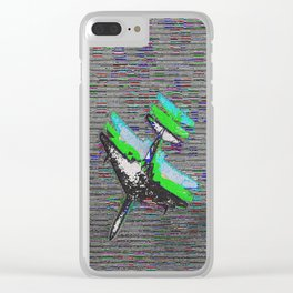 shifted 3d plane Clear iPhone Case