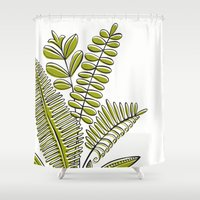 study Shower Curtains featuring Fern Study by Heather Dutton