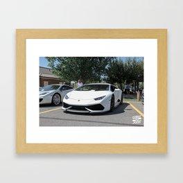 White Huracan Framed Art Print