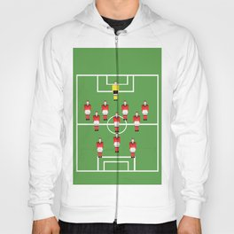 Soccer football team in red Hoody