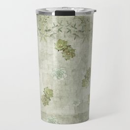 Sage Green Wallflowers Travel Mug
