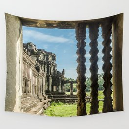 Angkor Wat, Window of the Outer Wall, Cambodia Wall Tapestry