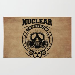 Nuclear Tomorrow vintage Rug