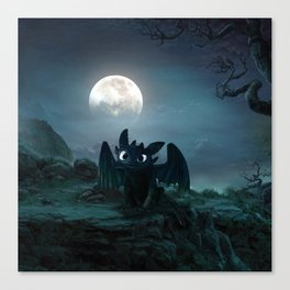 TOOTHLESS halloween Canvas Print