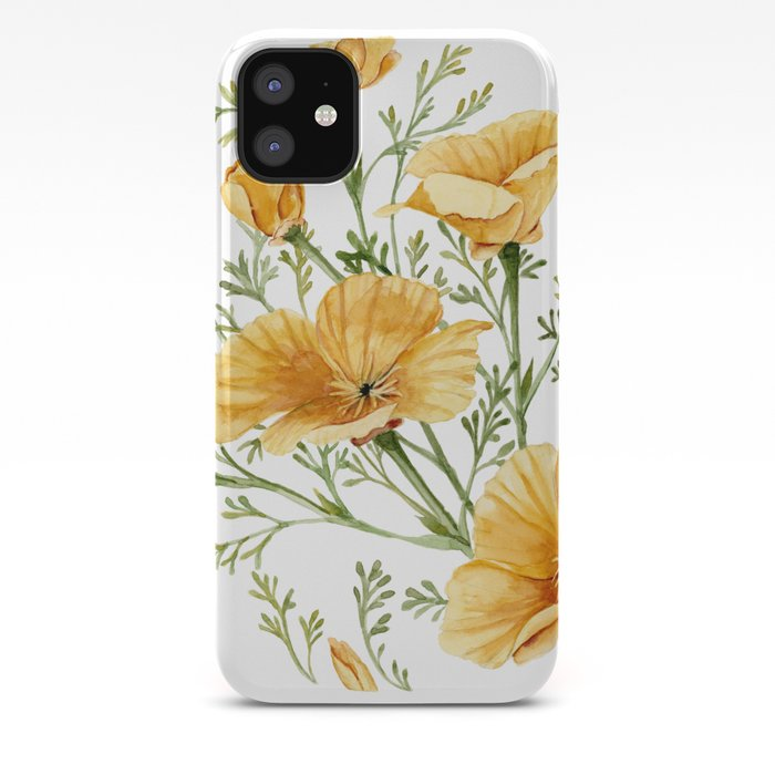 California Poppies Watercolor Painting Iphone Case By Shealeenlouise
