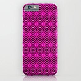 Pink & Black Vortex Diamonds iPhone Case