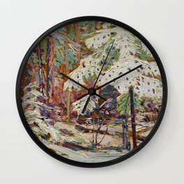 Tom Thomson Snow in the Woods Canadian Landscape Artist Wall Clock