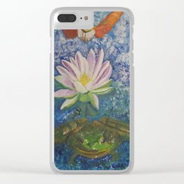Hummingbird Moth and Frog Clear iPhone Case