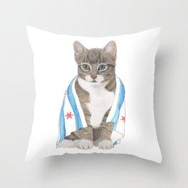 Chicago Cat Artwork & Home Decor Throw Pillow
