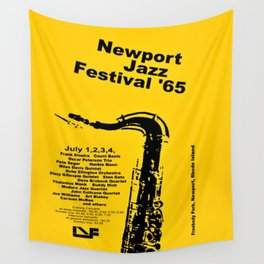 Vintage 1965 Newport, R.I Jazz Festival Advertisement Poster Wall Tapestry