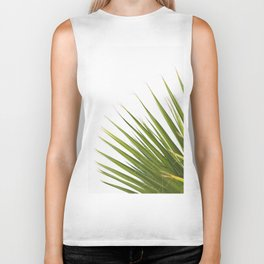 Tropical Palm Green Plant Leaf Minimalist Modern Photo Biker Tank