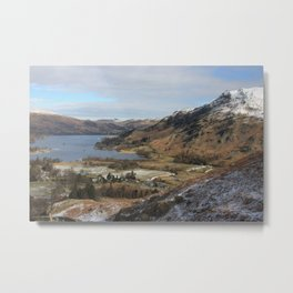 A dusting of mountain snow Metal Print