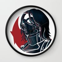 bucky Wall Clocks featuring Bucky by Charleighkat