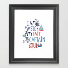 Nautical Typography Framed Art Print