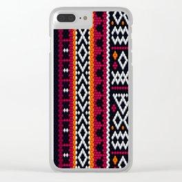 SADU Weave Fabric Clear iPhone Case