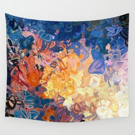 Fire in Atlantis Wall Tapestry