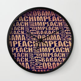 Impeach Barack Obama Wall Clock