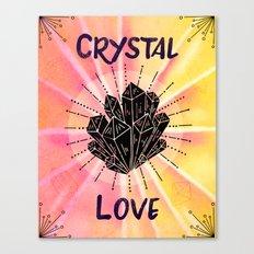 Crystal Love - Boho Crystal Watercolor Canvas Print