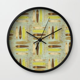 Surf Pattern 4 Wall Clock