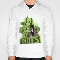 """simba Hoodies featuring """"I'm surrounded by idiots"""" (Scar - The Lion King) by Carlos Bellod"""