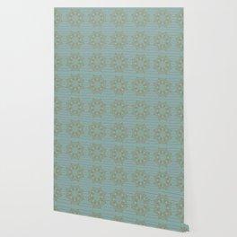 Elegant Christmas (Turquoise) Wallpaper