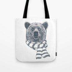 Winter Bear Drawing Tote Bag