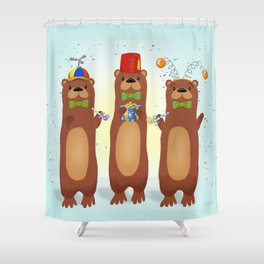 Otter Party And You Are Invited Shower Curtain